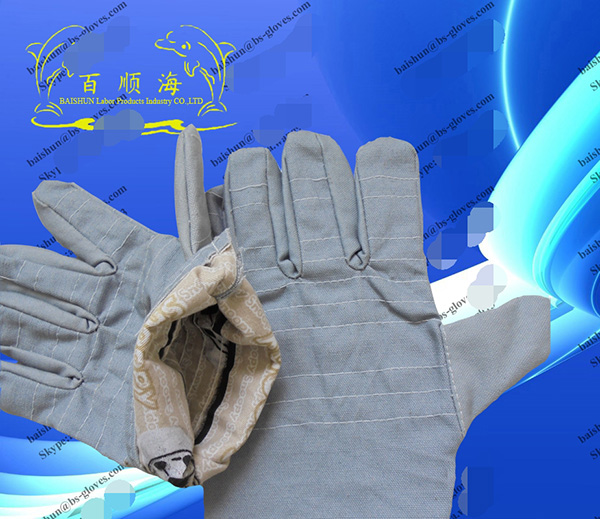 Thermal canvas gloves